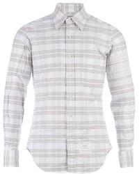 Camisa de manga larga de rayas horizontales gris