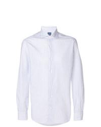 Camisa de Manga Larga de Rayas Verticales Blanca de Barba
