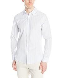 Camisa de Manga Larga de Rayas Verticales Blanca de Calvin Klein