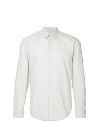 Camisa de Manga Larga de Rayas Verticales Blanca de Cerruti 1881