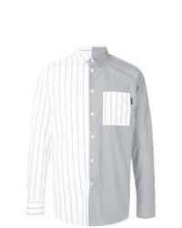 Camisa de Manga Larga de Rayas Verticales Blanca de GUILD PRIME