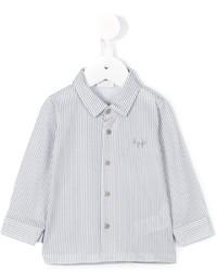 Camisa de manga larga de rayas verticales blanca de Il Gufo