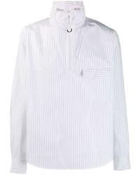 Camisa de manga larga de rayas verticales blanca de Kenzo