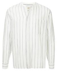 Camisa de manga larga de rayas verticales blanca de Lemlem