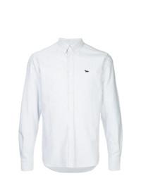 Camisa de manga larga de rayas verticales blanca de MAISON KITSUNÉ
