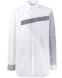 Camisa de manga larga de rayas verticales blanca de Neil Barrett