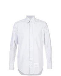 Camisa de manga larga de rayas verticales blanca de Thom Browne