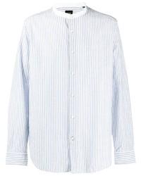 Camisa de manga larga de rayas verticales celeste de BOSS HUGO BOSS