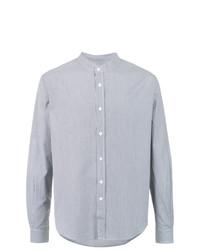 Camisa de manga larga de rayas verticales celeste de Egrey