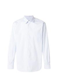 Camisa de manga larga de rayas verticales celeste de Très Bien