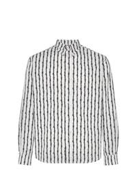 Camisa de manga larga de rayas verticales en blanco y negro de Ashley Williams