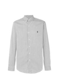 Camisa de manga larga de rayas verticales en blanco y negro de Polo Ralph Lauren