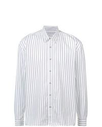 Camisa de manga larga de rayas verticales en blanco y negro de The Celect