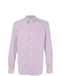 Camisa de manga larga de rayas verticales en blanco y rojo de Aspesi