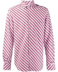 Camisa de manga larga de rayas verticales en blanco y rojo de Cobra S.C.