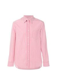 Camisa de manga larga de rayas verticales en blanco y rojo de Maison Margiela