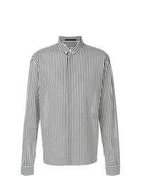Camisa de manga larga de rayas verticales en negro y blanco de Haider Ackermann