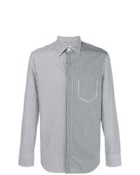 Camisa de manga larga de rayas verticales en negro y blanco de Maison Margiela