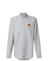 Camisa de manga larga de rayas verticales gris de AMI Alexandre Mattiussi