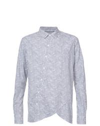 Camisa de manga larga de rayas verticales gris de Private Stock