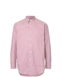 Camisa de manga larga de rayas verticales roja de Kent & Curwen