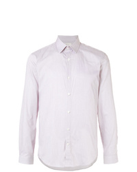 Camisa de manga larga de rayas verticales rosada de Cerruti 1881