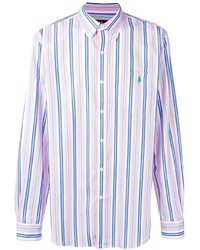 Camisa de manga larga de rayas verticales rosada de Polo Ralph Lauren