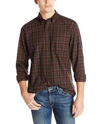Camisa de manga larga de tartán burdeos de Pendleton