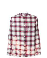 Camisa de manga larga de tartán en blanco y rojo de Zadig & Voltaire