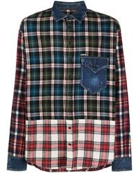 Camisa de manga larga de tartán en multicolor de DSQUARED2