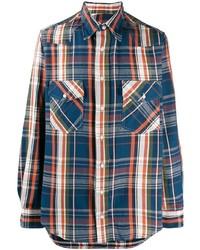 Camisa de manga larga de tartán en multicolor de Gitman Vintage