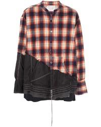 Camisa de manga larga de tartán en multicolor de Greg Lauren