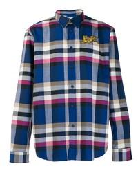 Camisa de manga larga de tartán en multicolor de Kenzo