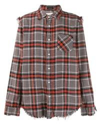Camisa de manga larga de tartán en multicolor de R13