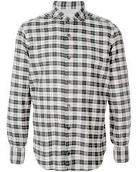 Camisa de manga larga de tartán en negro y blanco de Eleventy