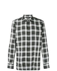 Camisa de Manga Larga de Tartán en Negro y Blanco de Neil Barrett