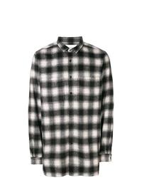 Camisa de manga larga de tartán en negro y blanco de Stampd