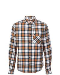 Camisa de manga larga de tartán marrón de Aztech Mountain