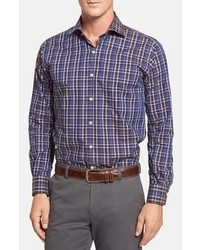 Camisa de manga larga de tartán morado