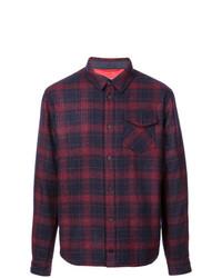 Camisa de manga larga de tartán morado oscuro de Aztech Mountain