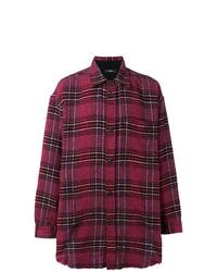 Camisa de manga larga de tartán morado de Diesel