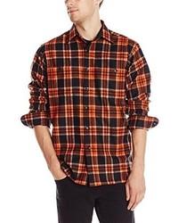 Camisa de Manga Larga de Tartán Naranja de Pendleton