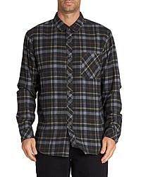 Camisa de manga larga de tartán negra