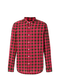 Camisa de manga larga de tartán roja de AMI Alexandre Mattiussi