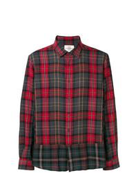 Camisa de manga larga de tartán roja de Kent & Curwen