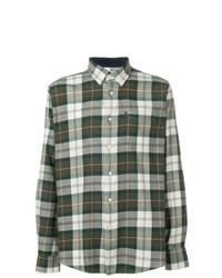 Camisa de Manga Larga de Tartán Verde Oscuro de Barbour