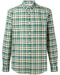 Camisa de manga larga de tartán verde de Acne Studios