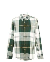 Camisa de Manga Larga de Tartán Verde de Barbour