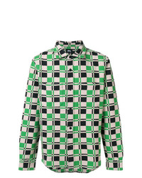 Camisa de manga larga de tartán verde de Stussy