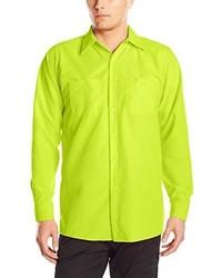 Camisa de Manga Larga en Amarillo Verdoso